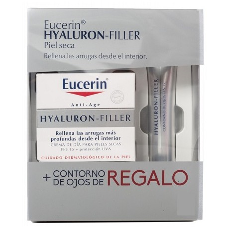 eucerin hyaluron  filler pack fps 15 piel seca 50 ml